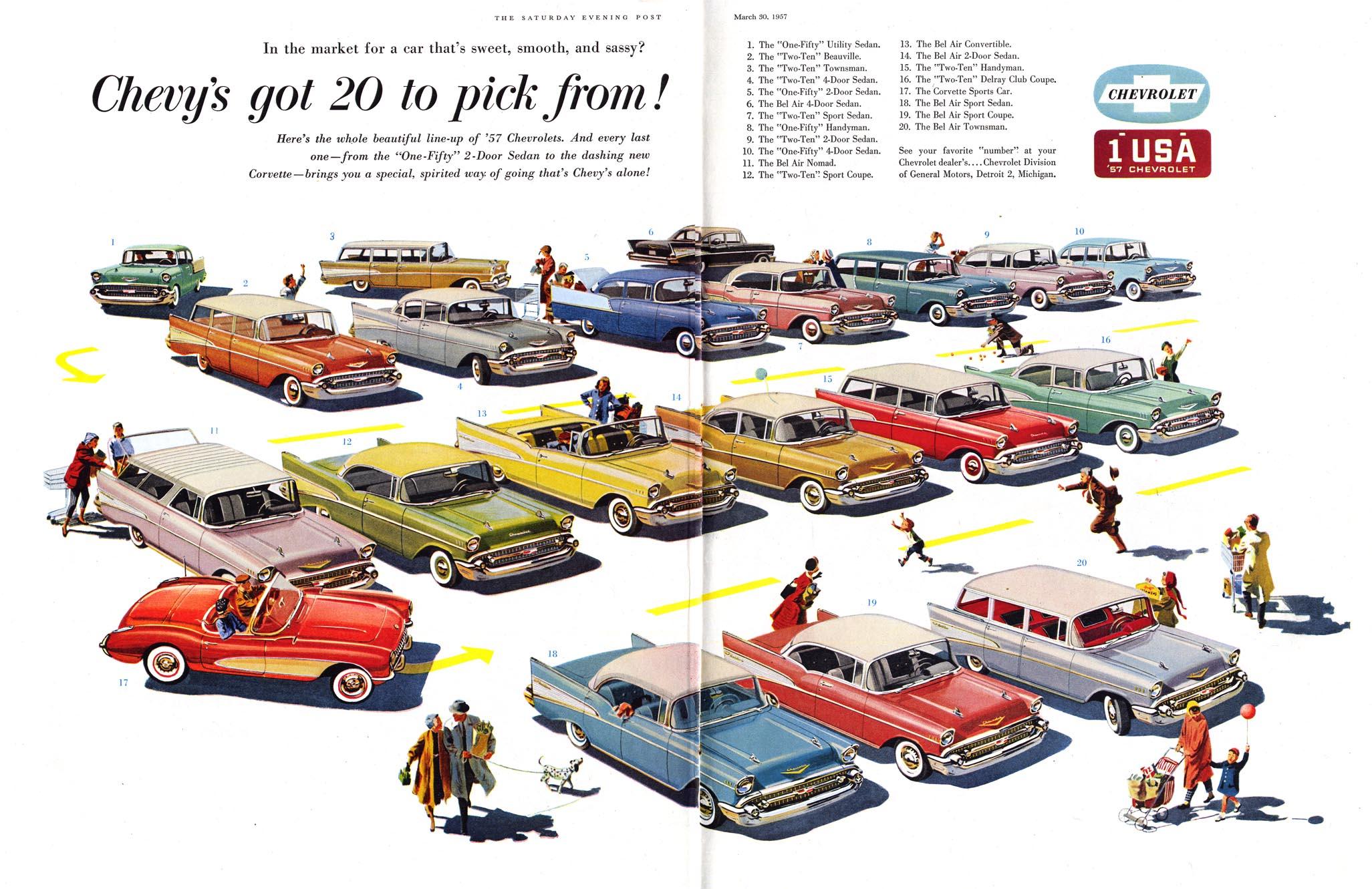 A linha Chevrolet para 1954…