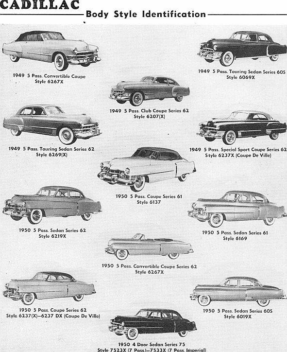 cadillac body style  u2013 carros antigos