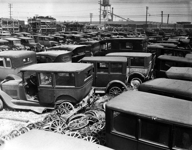 Los Angeles old pictures automobiles in LA California