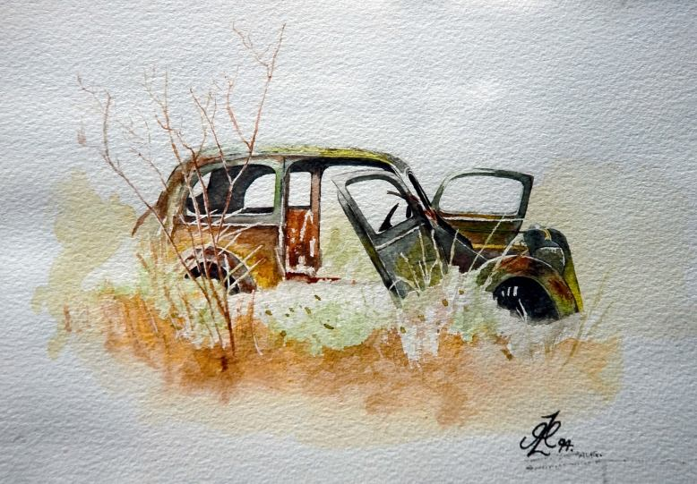 old_ford_watercolor