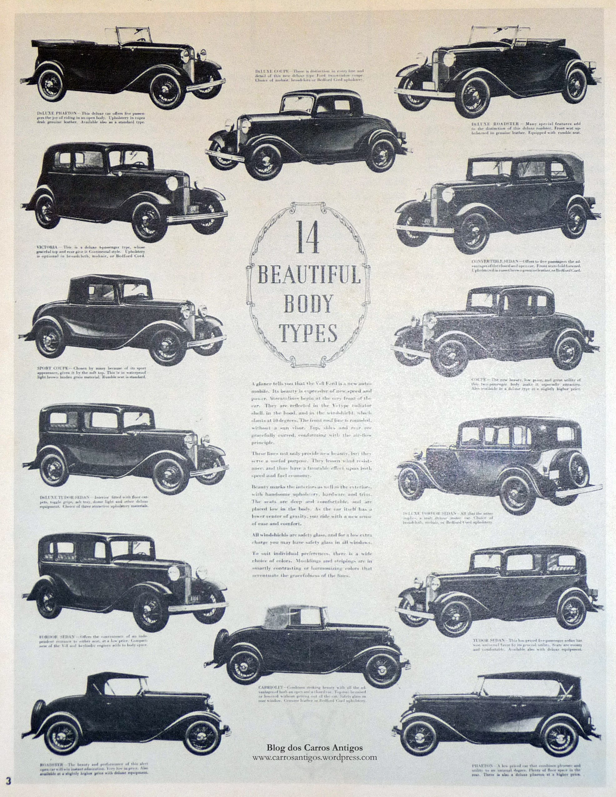 Ford 1932 – 14 body styles