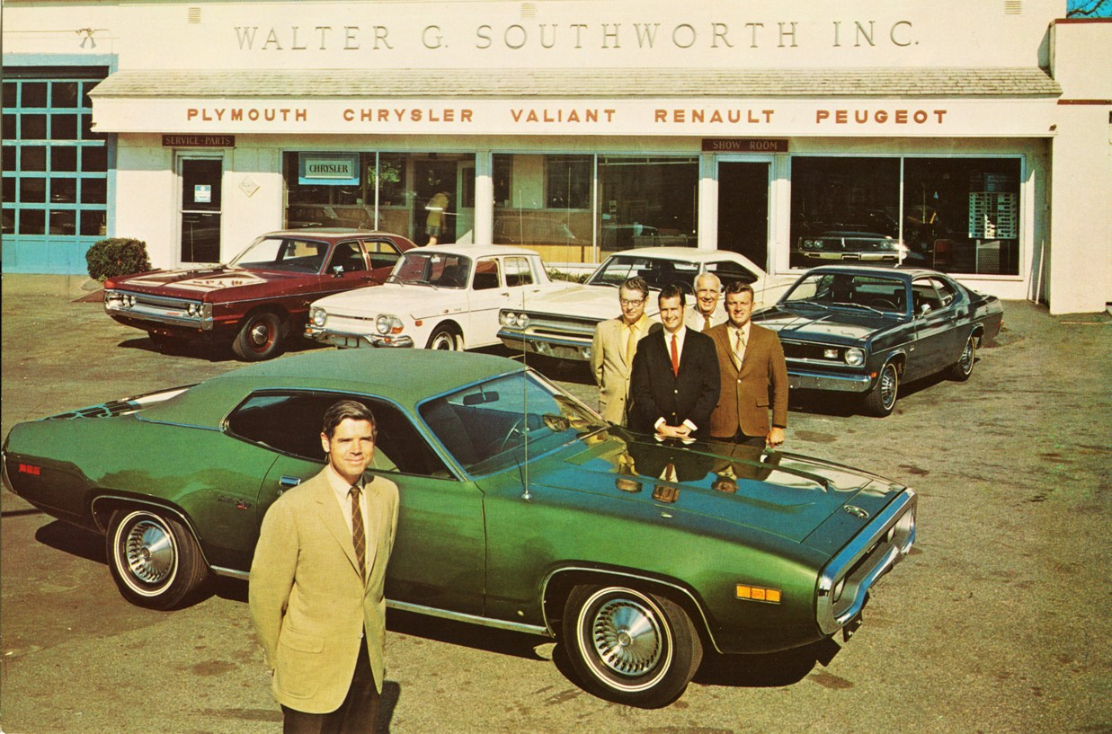Chrysler & Plymouth Dealership, 1971