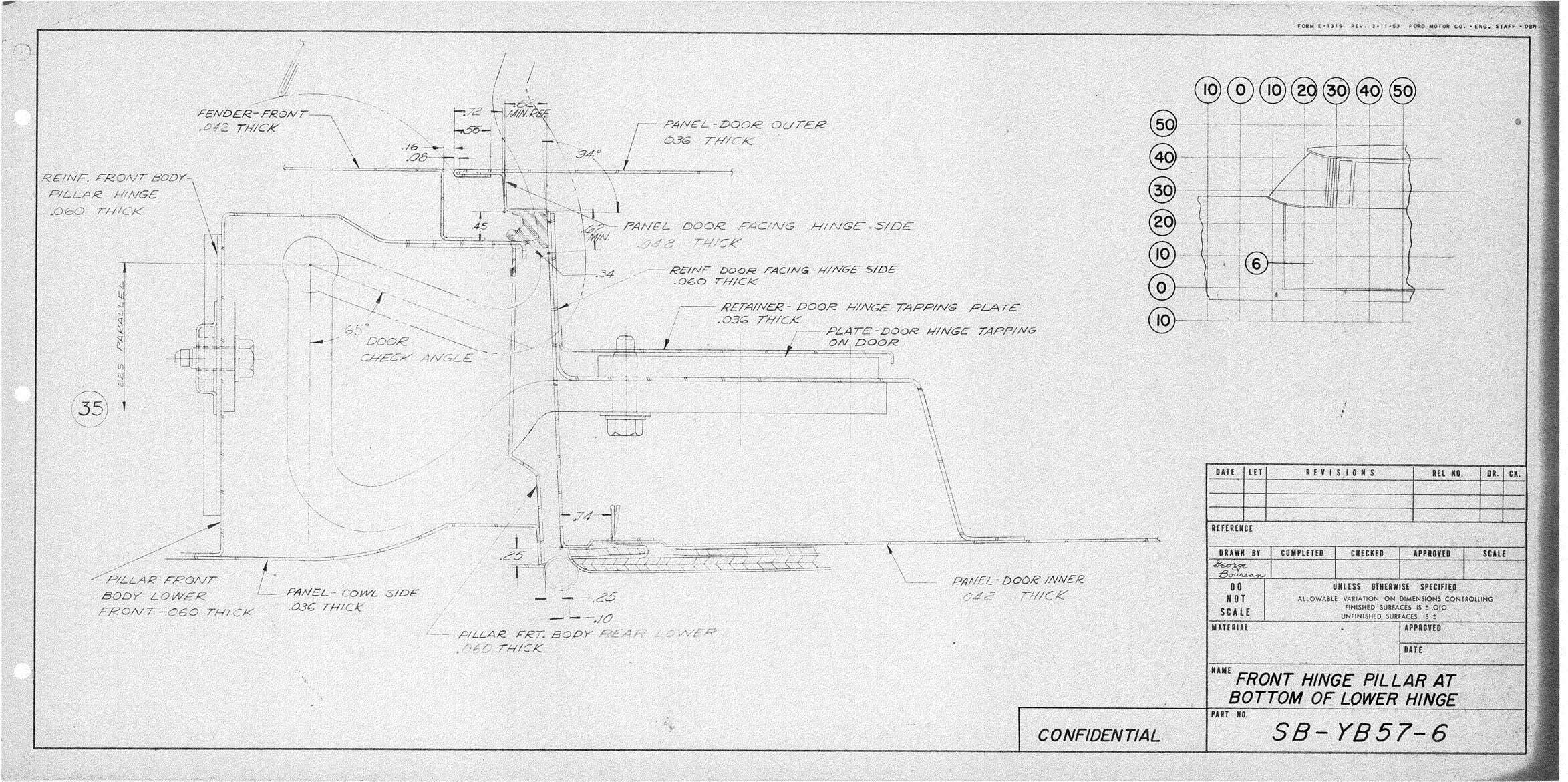 u201958 continental mark iii blueprints  u2013 carros antigos