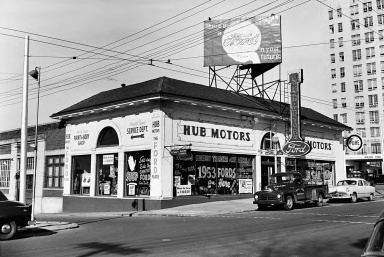 Hub Motor Company, 450 Peachtree Street, Atlanta __ Lane Brothers Photographs