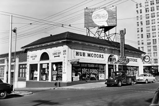 Hub Motor Company, 450 Peachtree Street, Atlanta __ Lane Brothers Photographs