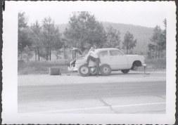 Vintage Car Photo Man w_ 1950 Ford Roadside Tire Repair 706248   eBay